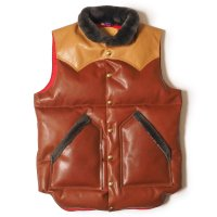 WAREHOUSE & CO. / ROCKY MOUNTAIN×WAREHOUSE & CO. LEATHER DOWN VEST