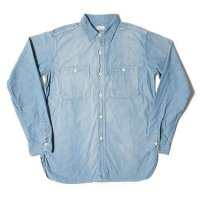 WAREHOUSE & CO. / Lot 3076 TRIPLE STITCH L/S WORK SHIRTS シャンブレー サックス USED WASH