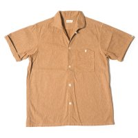 [ご予約商品] WAREHOUSE & CO. / Lot 3091 S/S OPEN COLLAR SHIRTS 茶綿ツイル