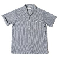 WAREHOUSE & CO. / Lot 3091 S/S OPEN COLLAR SHIRTS インディゴストライプ