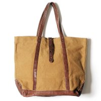 WAREHOUSE & CO. / Lot 5220 LEATHER & CANVAS TOTE BAG