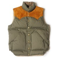 WAREHOUSE & CO. / Lot 2139 ROCKY MOUNTAIN × WAREHOUSE HERRINGBONE DOWN VEST NON WASH