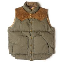 WAREHOUSE & CO. / Lot 2139 ROCKY MOUNTAIN × WAREHOUSE HERRINGBONE DOWN VEST LONG WASH