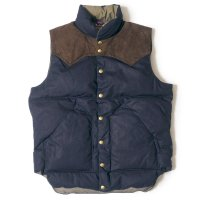 WAREHOUSE & CO. / Lot 2140 ROCKY MOUNTAIN × WAREHOUSE INDIGO DUCK DOWN VEST NON WASH
