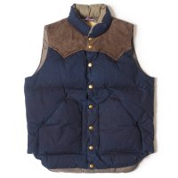 WAREHOUSE & CO. / Lot 2140 ROCKY MOUNTAIN × WAREHOUSE INDIGO DUCK DOWN VEST LONG WASH