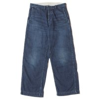 WAREHOUSE & CO. / Lot 1208 USN DENIM TROUSERS(BUTTON FLY) USED WASH(濃)
