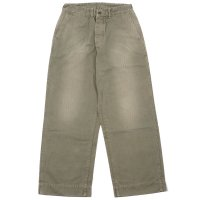 WAREHOUSE & CO. / Lot 1210 MILITARY HERRINGBONE UTILITY PANTS USED WASH