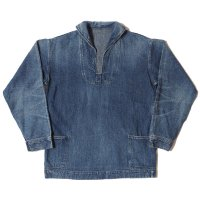 WAREHOUSE & CO. / Lot 2141 USN DENIM PULLOVER JACKET USED WASH