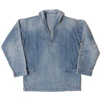 [ご予約商品] WAREHOUSE & CO. / Lot 2141 USN DENIM PULLOVER JACKET USED WASH(淡)