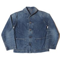 WAREHOUSE & CO. / Lot 2142 USN DENIM DECK JACKET USED WASH