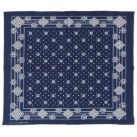 WAREHOUSE & CO. / Lot 5227 SELVEDGE INDIGO BANDANA B柄(GEOMETRIC)