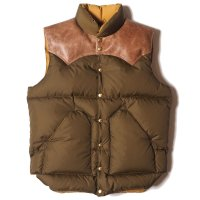 WAREHOUSE & CO. / Lot 2155 ROCKY MOUNTAIN × WAREHOUSE NYLON DOWN VEST
