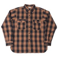 WAREHOUSE & CO. / Lot 3022 FLANNEL SHIRTS WITH CHINSTRAP ONE WASH