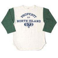 WAREHOUSE & CO. / Lot 4800 7分袖ベースボールT NORTH ISLAND