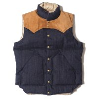 WAREHOUSE & CO. / Lot 2157 ROCKY MOUNTAIN × WAREHOUSE INDIGO DOWN VEST NON WASH