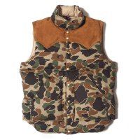 WAREHOUSE & CO. / Lot 2158 ROCKY MOUNTAIN × WAREHOUSE CAMOUFLAGE DOWN VEST NON WASH