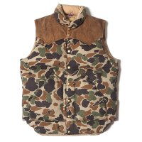 WAREHOUSE & CO. / Lot 2158 ROCKY MOUNTAIN × WAREHOUSE CAMOUFLAGE DOWN VEST USED WASH