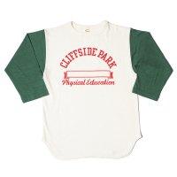 [ご予約商品] WAREHOUSE & CO. / Lot 4800 7分袖ベースボールT CLIFFSIDE PARK