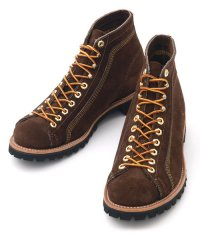 WAREHOUSE & CO. / WEINBRENNER CUSTOM ORDER BROWN SUEDE ROOFER BOOTS