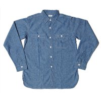 WAREHOUSE & CO. / Lot 3076 TRIPLE STITCH WORK SHIRTS シャンブレー サックス NON WASH