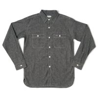 WAREHOUSE & CO. / Lot 3076 TRIPLE STITCH WORK SHIRTS シャンブレー ブラック NON WASH