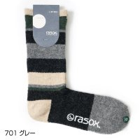 RASOX / マルチボーダーウール・クルー
