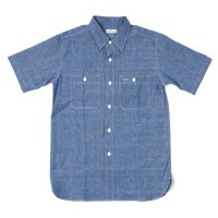 WAREHOUSE / Lot 3080 S/S CHAMBRAY WORK SHIRTS NON WASH