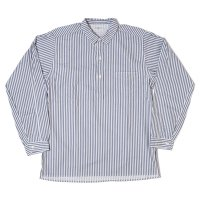 HELLER'S CAFE / HC-140-2 Turn of Century Print Hickory Stripe Pullover Shirts OR