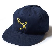 EBBETS FIELD FLANNELS×WAREHOUSE / COTTON BASEBALL CAP NAVSTA GREAT LAKES ネイビー