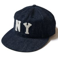 EBBETS FIELD FLANNELS×WAREHOUSE / DENIM BASEBALL CAP