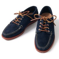OAK STREET BOOTMAKERS / NAVY SUEDE RED BRICK SOLE TRAIL OXFORD