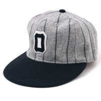 EBBETS FIELD FLANNELS �� WAREHOUSE / Osaka Tigers BaseBall Cap 1930's Gray Stripe