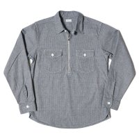 WAREHOUSE / Lot 3098 HALF ZIP WORK SHIRTS ストライプ