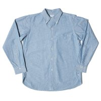 WAREHOUSE / Lot 3099 L/S OXFORD B.D. SHIRTS WITH POCKET 耳付インディゴOX