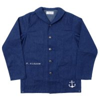 WAREHOUSE × U.S.NAVAL ACADEMY / DENIM DECK JACKET OR