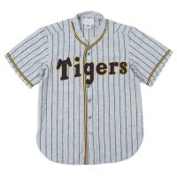 EBBETS FIELD FLANNELS × WAREHOUSE / Osaka Tigers 1930's Gray Stripe Baseball Shirts