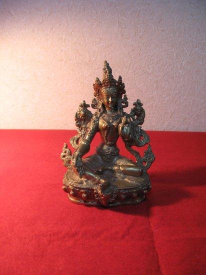 即納! 新品 ネパール ブロンズ 観音菩薩像 アジアン雑貨 チベット仏教