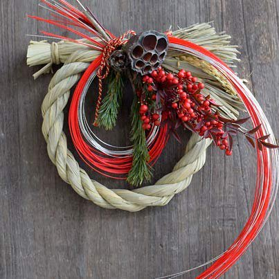 New Year Wreath -Dry shimenawa -
