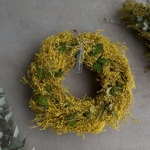 Mimoza Wreath-ミモザリース-