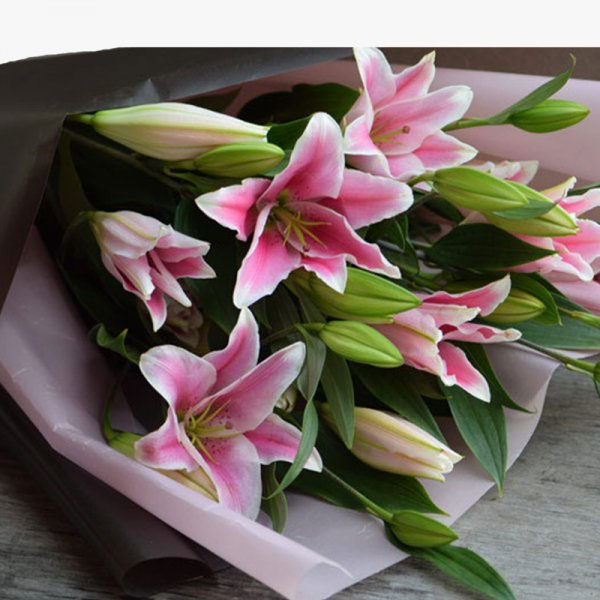 Pink lily 20 bouquet