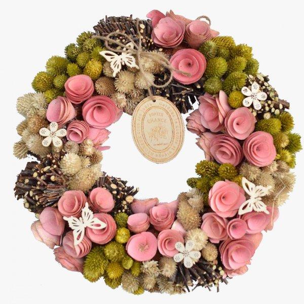 Olive pink wreath -オリーブ・ピンク-