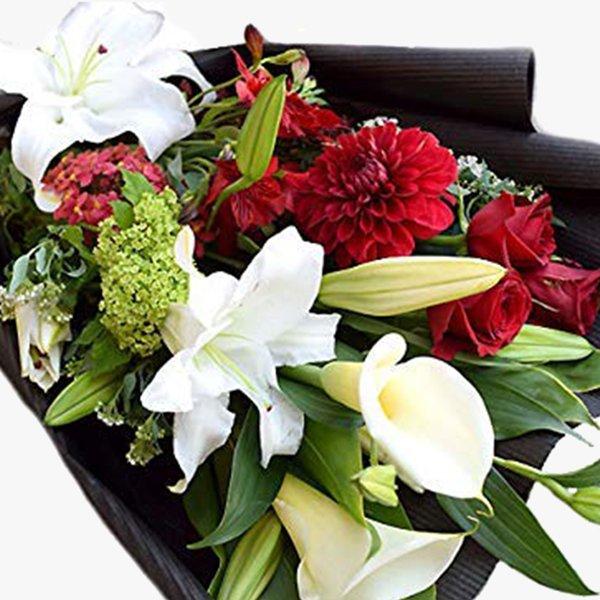 結婚祝い 定年退職 カサブランカ花束 イングリット