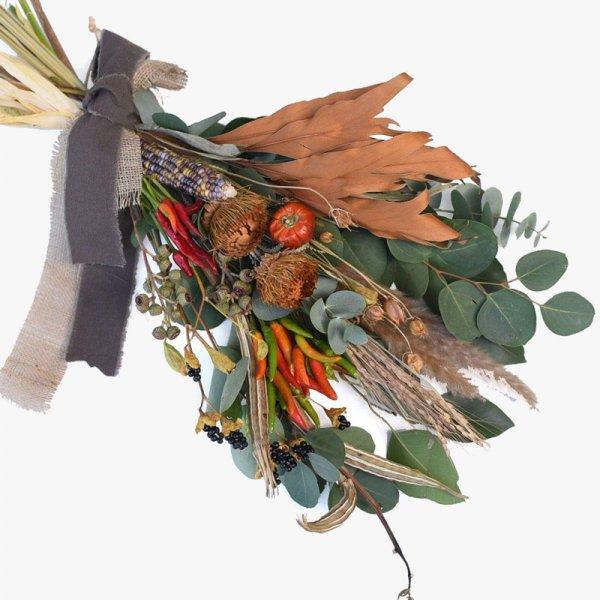 ドライフラワー  オータムスワッグ「秋の収穫祭」