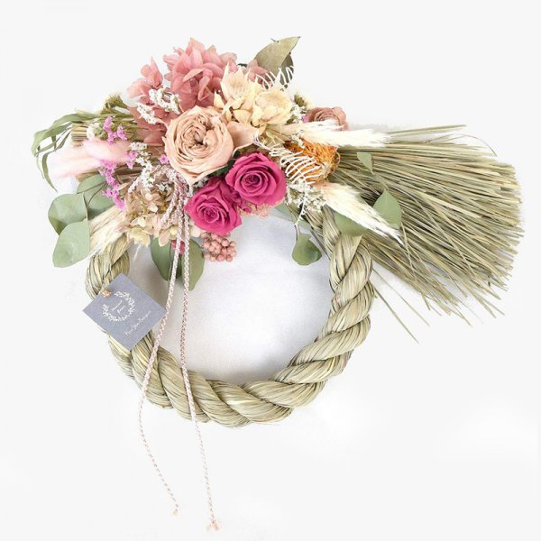 New Year Wreath -Bombador pink -