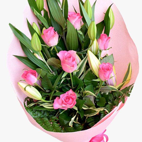 Lilie&Rose bouquet-Pink-