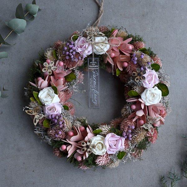 Recelilac wreath-レース・ライラック・リース-