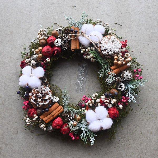 Bonheur Cotton Wreath-ボヌール・コットン・リース-