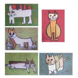 ポストカード・ネコ5種セット�