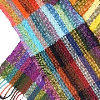りょんしる君の手織りストール 1