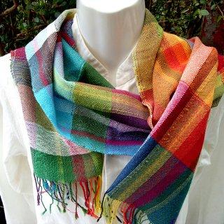 りょんしる君の手織りストール 6